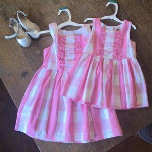 NWT Oshkosh Pink Checked Dress
